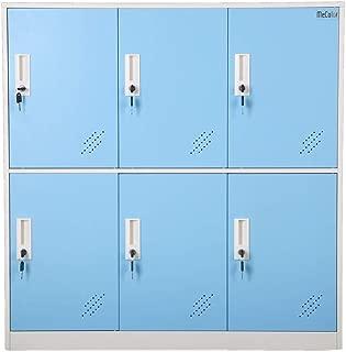 Steel Office Locker Cabinet with Keys, School and Home Storage Locker Organizer,Kids Locker for Cloth and Toy Organizer,Living Room Boy and Girl Metal Storage Locker Cabinet (Blue)