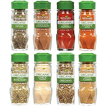 McCormick Gourmet Organic Spice Rack Refill Variety Pack 8 count