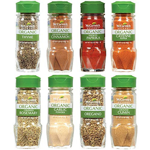 McCormick Gourmet Organic Spice Rack Refill Variety Pack, 8 count