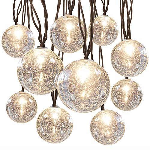 White Plug-in Bulbs String Lights
