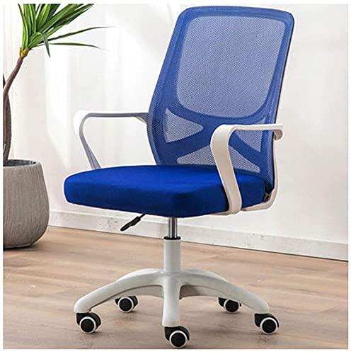 TAIDENG Silla de oficina para ordenador, silla de escritorio, ergonómica, ajustable y giratoria de tela de malla (color: azul)