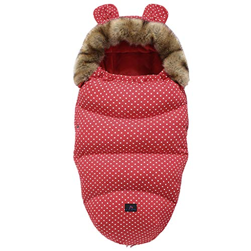 TCM-KE Baby Kinderwagen Schlafsack Winter Warm Schlafsäcke Robe Neugeborene Säugling Fußsack Perfektes Baby Shower Geschenke für Neugeborene und werdende Mütter