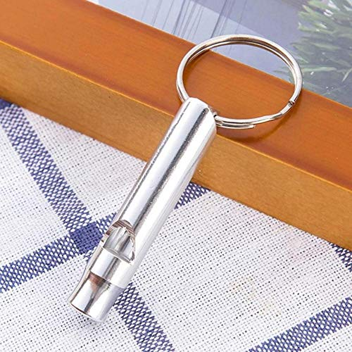 Finer 1Pcs Camping Senderismo Supervivencia Silbato Silbato Llavero Pequeño tamaño Aluminio Silbato de Emergencia Herramientas EDC al Aire Libre Silbato de Tren, 4 Blanco