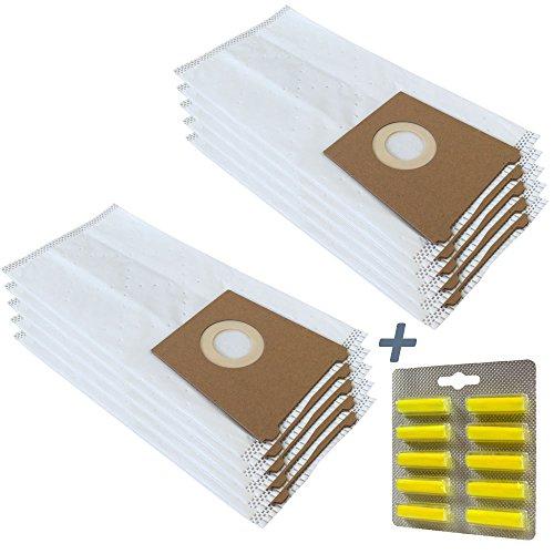 PakTrade Set 10 Duftstäbchen + 10 Staubsaugerbeutel Für Bosch Ventaro PSM 1400, Bosch Elektrowerkzeuge Ventaro PSM1400, Ventaro PSM1400A, Schleifmaschine