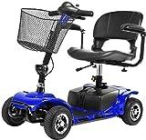 BXZ Silla de ruedas 4 ruedas Scooter eléctrico para adultos Scooter de movilidad eléctrica Scooter de viaje para personas de la tercera edad de servicio pesado, pasamanos plegable y abatible, asiento