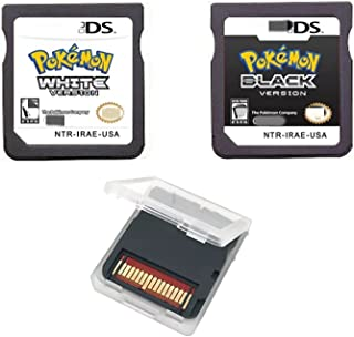 DS pkmn Games, 2-Pack Black and White. Compatible NDS DSL DSi XL 3DS 2DS.
