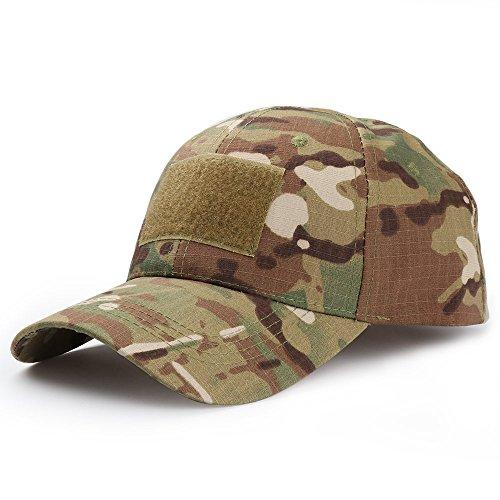Kingnew camuflaje gorra transpirable Outdoor Run Camo Táctica Gorra de béisbol para deporte (CP camuflaje)