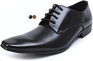 [エムエムワン] ビジネスシューズ ドレスシューズ ビジネス シューズ 靴 紳士靴 ロングノーズ 【AZ384B】 全3色 ブラック ブラウン ダークブラウン