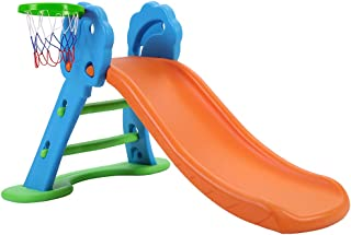 Keezi Slide with Basketball Hoop for Kids