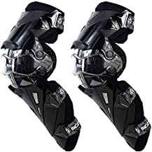 SCOYCO Armor Knee Protectors,Rotatable Hard Collision Avoidance Off-Road Knee Guards for Motorcyle/BMX/ATV (Black)
