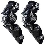 SCOYCO Racing Knee Guards,PP PE Hard Collision Avoidance Crashproof Rotatable Bionic Designed for Moto/ATV/BMX K12 (Black)