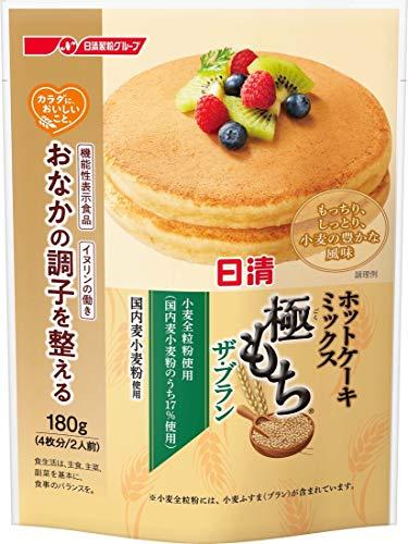 日清フーズ カラダに、おいしいこと。 ホットケーキミックス 極もち ザ・ブラン 180g ×3袋