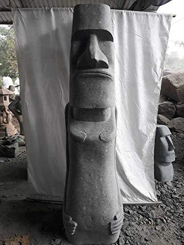 Wanda collection Estatua de jardín Zen Moai de Isla de Pascua en Piedra Natural 200 cm