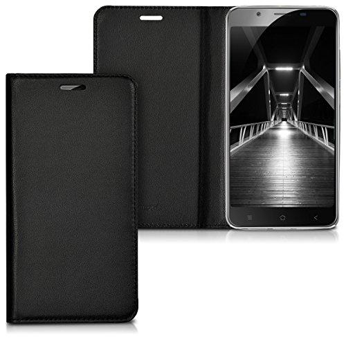kwmobile Hülle kompatibel mit Blackview P2 / P2 Lite - Kunstleder Handy Schutzhülle - Flip Cover Hülle Schwarz
