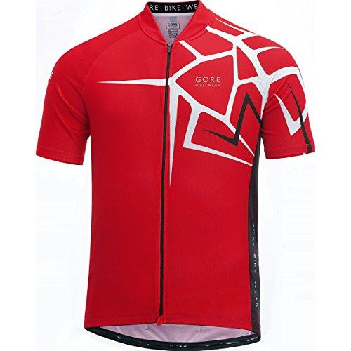 Gore Bike Wear Element Adrenaline 4.0 Maillot, Hombre, Rojo, XL