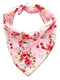 Pet Wachhund, Boutique Vintage Bandana für Hunde, Medium/Large, Pink