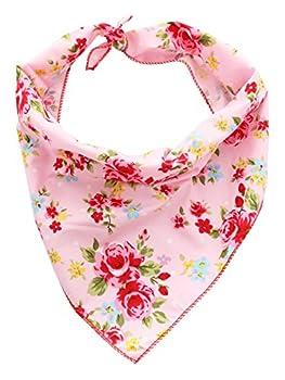 Pet Pooch Boutique Bandana Vintage pour Chien Rose Taille XS