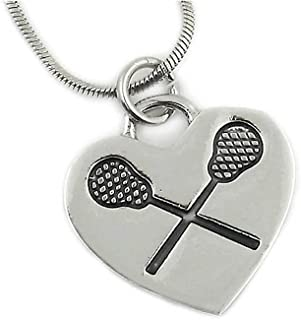 Lacrosse Necklace #1 Top Selling Gift for a Lacrosse Player, Coach and Team. Why Buy Another Trophy?