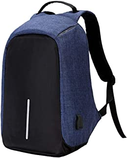 Unisex Laptop Bags Anti-theft Notebook Backpack With USB Charger Port Student School Bag