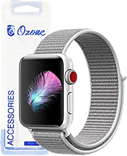 Ozone Nylon Strap For Apple Watch 40mm / 38mm with Hook and Loop Fastener For Series 4/3/2/1 - Grey