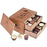 Chocolaterie - Geburtstag - 20 cioccolatini esclusivi Regalo in scatola di legno | Praline cioccolato | Compleanno | Donna | uomo | mamma | amica | moglie |...