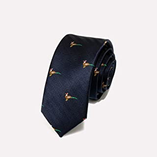 Classic Men's Woven Neckties Animal Pattern Tie Wedding Work 145 × 5.5cm Send Father, Husband, Friend Gifts CQQO (Color : E)
