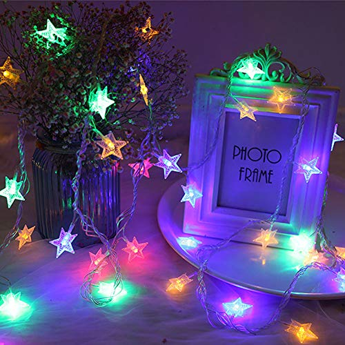 Star String Lights, 7.5M 50 LED String Lights Battery Powered Starry Fairy String Light for Wedding Party Bedroom Garden Patio Play Tents Indoor[Multi-Colors]