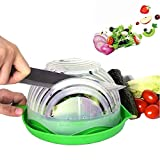 Salad Cutter Bowl,Simple Salad-Fruit and Vegetable Chopping Set,Upgraded Juice Making and Salad Make,Salad Chopper Bowl Fresh Salad Slicer