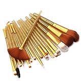 HOUXIAONI Set di Spazzole per Trucco per Labbra per Ombretto Eyeliner Eyeliner per Fondotinta in Polvere Multifunzione 18pcs,3-OneSize