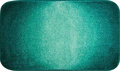 Grund Badteppich 100% Polyacryl, ultra soft, rutschfest, ÖKO-TEX-zertifiziert, 5 Jahre Garantie, MOON, Badematte 60x100 cm, petrol