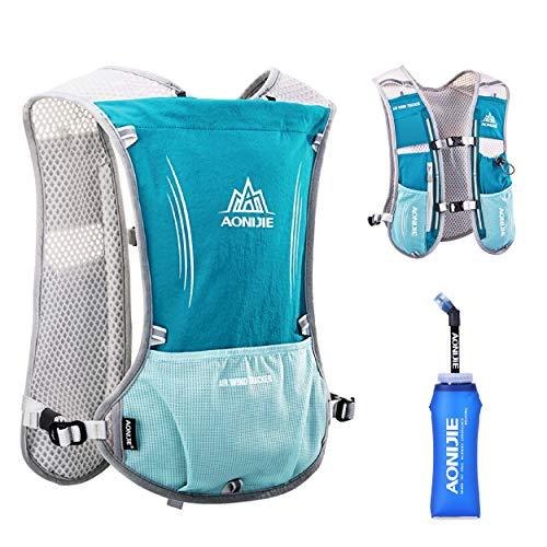 TRIWONDER Hydration Pack Backpack 5L Marathoner Running Race Hydration Vest (Light Blue)