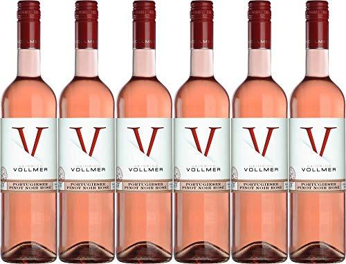 6x Vollmer Portugieser Pinot Noir Rosé 2019 - Weingut Heinrich Vollmer, Pfalz - Rosé