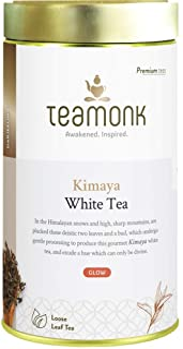 Sponsored Ad - Teamonk Kimaya Imperial Himalayan White Tea Loose Leaf (75 Cups) | 100% Natural Tea | Powerful Antioxidant ...