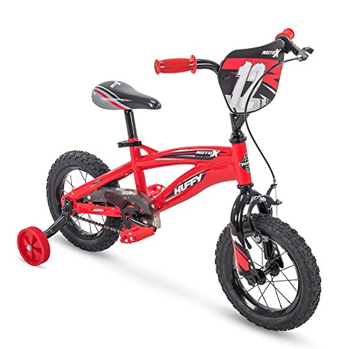 Huffy 12' MotoX Boys Bike, Gloss Red