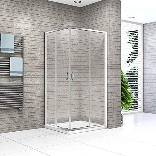 Home Deluxe - Duschkabine - Andiamo V2 - Maße: 110 x 110 cm - 6 mm ESG | Komplettdusche, Eckdusche, Duschabtrennung, Fertigdusche