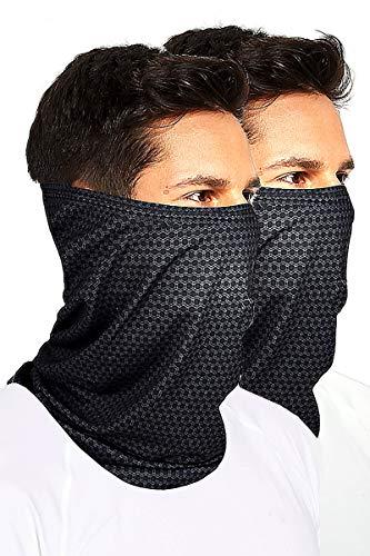 Neck Gaiter Face Cover Unisex Copper-Infused Mask Guard Balaclavas Scarf Bandana (2 Packs)