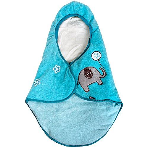 Lupilu Babyfußsack Baby Fußsack Winterfußsack Kuschelsack Babydecke Kinderwagen waschbar gut gefüttert hellblau
