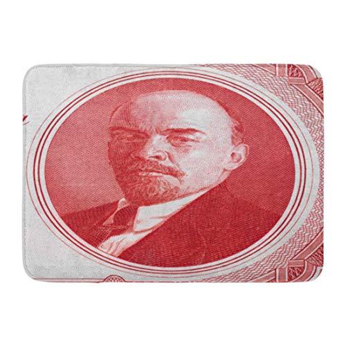 Fußmatten Bad Teppiche Outdoor / Indoor Fußmatte Vladimir Lenin Porträt auf Russland Rubel 1937 Banknote Nahaufnahme Russische Kommunistische Revolutionäre Politiker Badezimmer Dekor Teppich Badematte