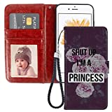 Wallet Case for iPhone 5C Im a Princess Phone Cover TPU Soft Edge Internal Case and PU Leather Outer Case with Card Slot Magnetic Buckle Flip Case