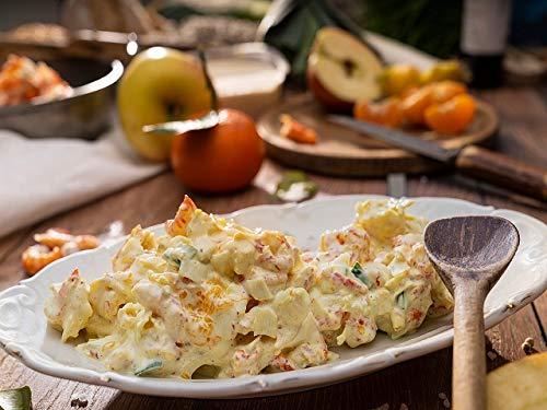 Flusskrebse in Mandarinen-Senf-Creme - in Handarbeit hergestellt - fruchtig frisch mit Mandarinen angemacht, mit Orangensenf-Honig Dressing abgeschmeckt - 250 Gramm