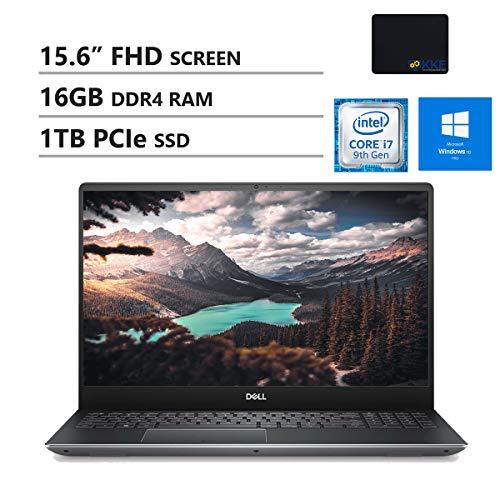 "2019 Dell Inspiron 5000 15 6"" FHD Laptop Computer: Intel Core i7-7500U up to 3.5GHz/ 16GB DDR4 RAM/ 1TB HDD + 256GB PCIe SSD/ DVDRW/ 802.11AC WiFi/ Bluetooth 4.2/ HDMI/ Silver/ Windows 10 Professional"