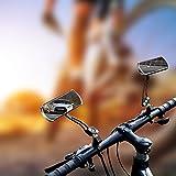 JINSANSHUN jinsan Shun Bicicleta Espejo 2PCS. Bicicleta de montaña Espejo retrovisor 360° Giro Cuello de Cisne Ciclismo Cometa Reflector de Espejo
