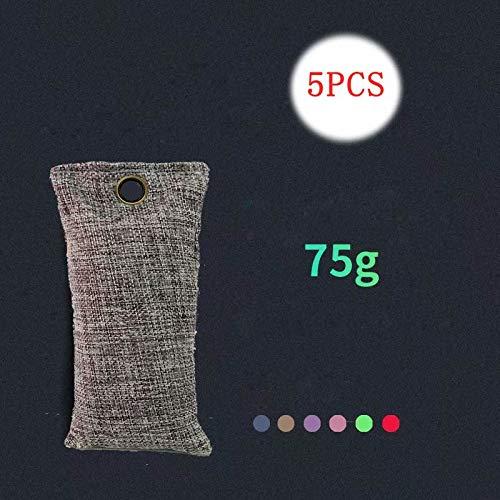 Xinhengchen Carbón de bambú activado 5 piezas (color aleatorio) Desodorante para zapatos Desodorante Ambientador de vestuario purificador de aire natural Aplicable a automóviles, zapatos,