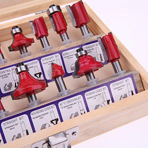 carburo de Mango F/ábricas Tradicionales Injertos Herramientas de la carpinter/ía de Madera del Cortador Fresas Lorsoul 15PCS Set Fresa de la m/áquina Conjunto