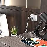 Lencent Reiseadapter Netzadapter DE EU Stecker mit 3 USB Ports+1 Typ-C Port für USA Amerika Kanada Mexiko Steckdose Buchse Steckdose-Adapter Weiß - 3