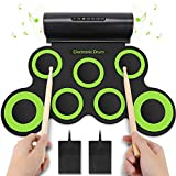 YISSVIC Electronic Drum Set Roll Up Drum Pad Midi Drum Kit Foldable...