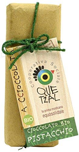 Altro Mercato Cioccolato Modicano ai Pistacchi Quetzal - 12 pezzi da 60 g [720 g]