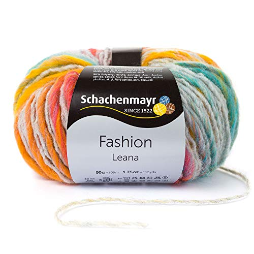 Schachenmayr Handstrickgarn, Wolle, 49% Polyacryl, 2% Polyamid, regenbogen color, 14 x 12 x 7 cm