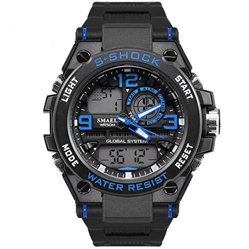 Blisfille Reloj Hombre Cronografo Relojes Extraplanos Reloj Acero Dorado Reloj Acero Negro...