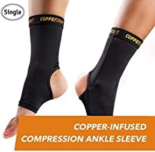 CopperJoint Compression Ankle Sleeve, Copper-Infused High-Performance Breathable Design,..